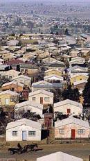Les matchesbox (habitat modeste des townships)